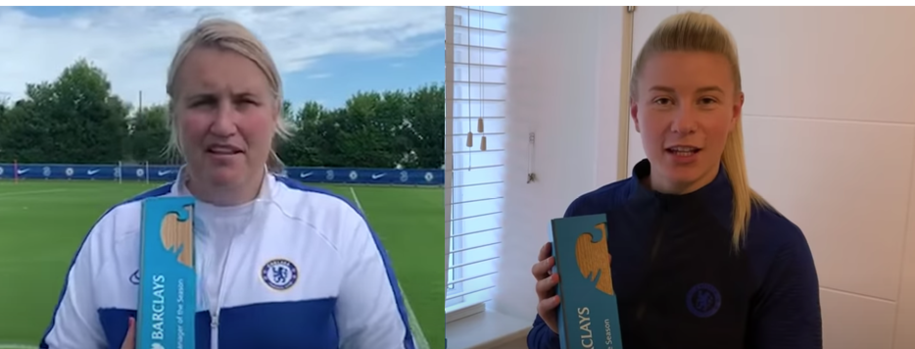 Hayes and England at the double for Chelsea in Barclays FA WSL Awards 2019/20