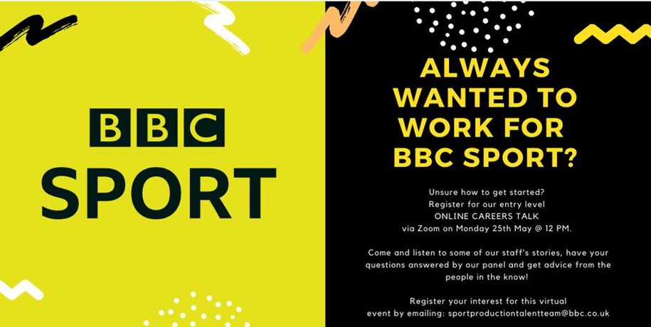 Want to work for BBC Sport but don't know how to get started? Read on...