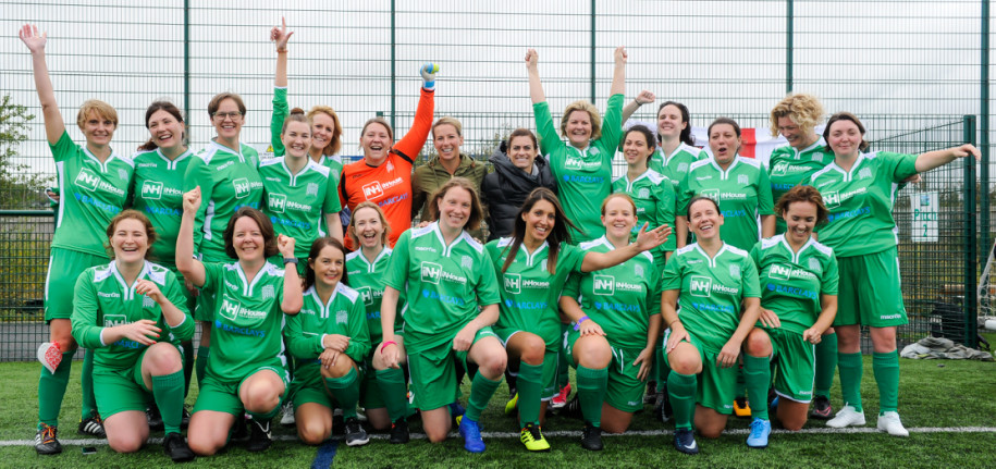 Football is the winner in match between Lewes FC Women Vets and UK Parliamentary Women's FC