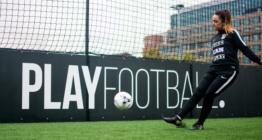 'She Can Play' and PlayFootball team up for nationwide girls' coaching programme