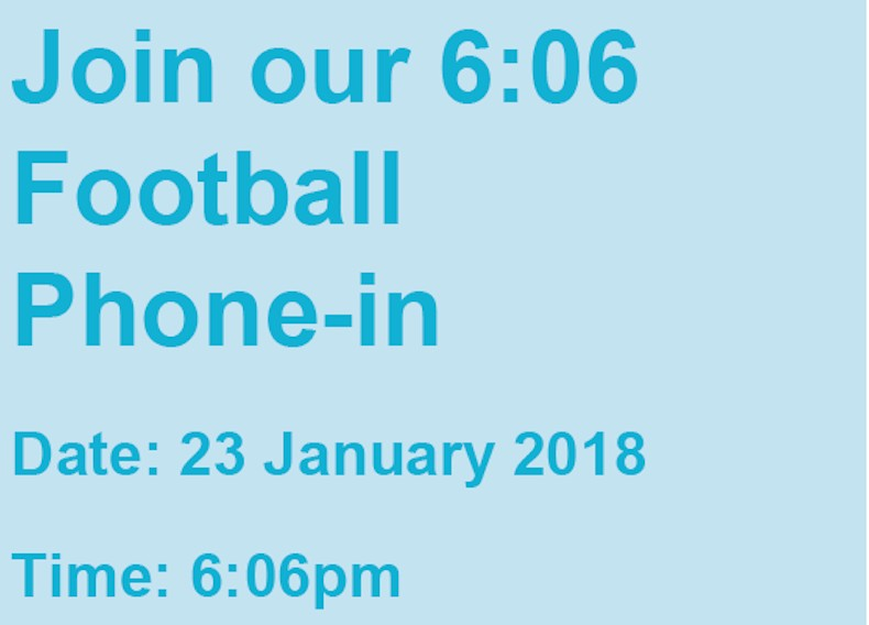 Join our special 6:06 football phone-in and get free advice on workplace issues