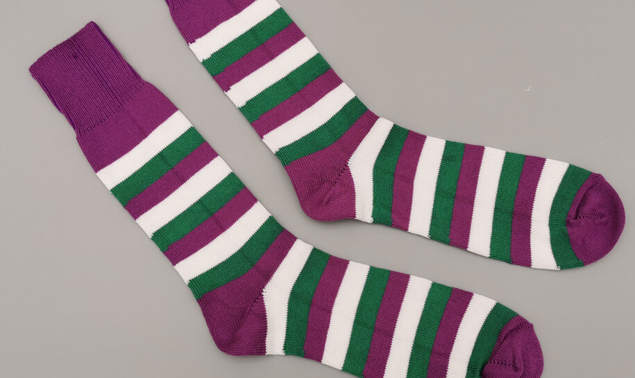 Suffragette socks - with donation from every pair sold to Women in Football