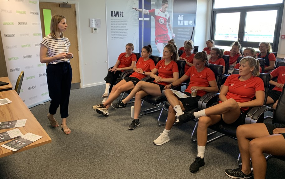 Switch the Play lead a mini masterclass at Bristol City Women FC as part of its #WhatIf pledge